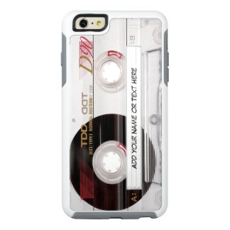 Vintage Cassette Tape Funny Look with Custom Text OtterBox iPhone 6/6s Plus Case