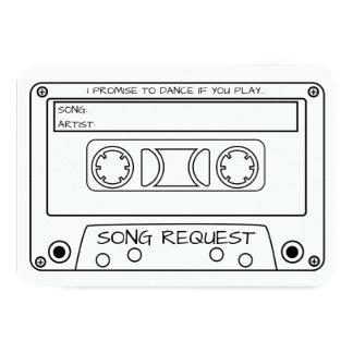 Vintage Cassette Tape Wedding Song Request Card