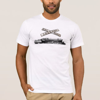 Vintage Cast Iron Railroad Crossbuck And Steam T-Shirt