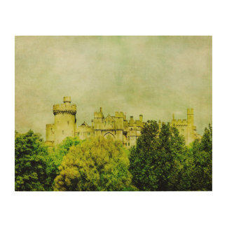 Vintage Castle Wood Wall Art