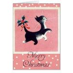 Vintage Cat Christmas Card
