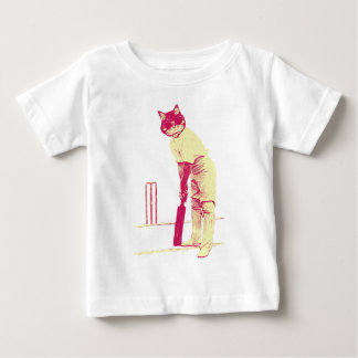 vintage cat cricketer baby T-Shirt