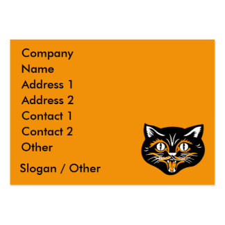 Vintage Cat Face Business Card Template