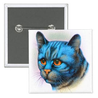 Vintage Cat Kitten Rare Blue Haired Tabby Button