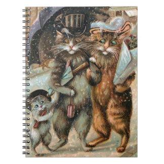 Vintage Cat Notebook, Louis Wain Notebooks