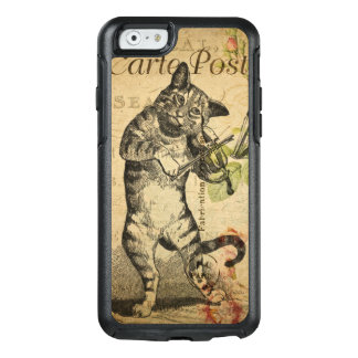 Vintage Cat Playing a Violin OtterBox iPhone 6/6s Case