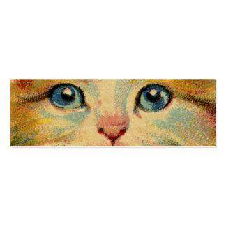 Vintage Cat Portrait Pack Of Skinny Business Cards
