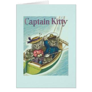 Vintage Cat Sailing Note Card