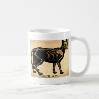 Vintage Cat Skeleton Coffee Mug