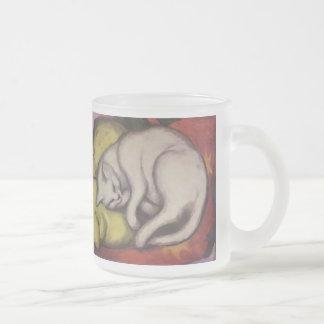 Vintage Cat Sleeping Coffee Mug