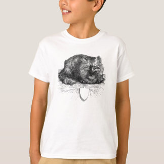 Vintage Cat Tag Angry Black Cats Animal T-Shirt