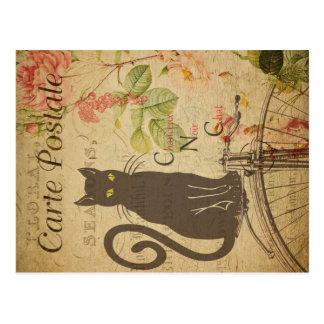 Vintage Cat Theme   Carte Postale   Black Cat Postcard