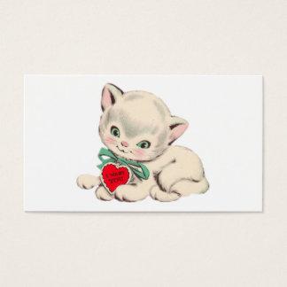 Vintage Cat Valentine's Day Valentine