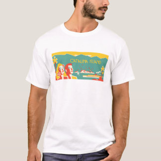 Vintage Catalina Island Travel Poster T-Shirt