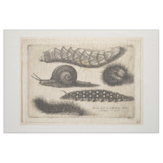 Vintage Caterpillar Snail Insect Tapestry (56) Fabric