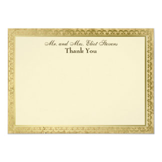 Vintage Catholic Cross Personalized Thank You Card