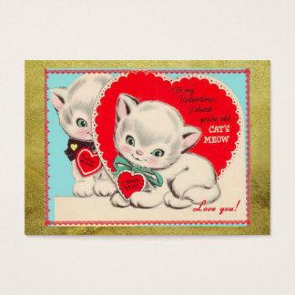 Vintage Cats Kids Valentine's Day Valentine
