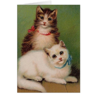 Vintage Cats Note Card