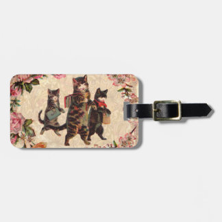 Vintage Cats Pretty Antique Kitty Luggage Tag