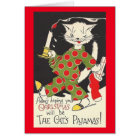Vintage Cat's Pyjamas Christmas Card