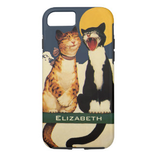Vintage Cats Singing, Funny and Silly Animals iPhone 8/7 Case