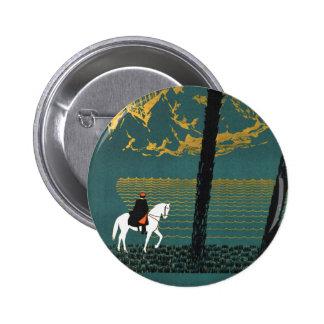 Vintage Caucasus Mountains 6 Cm Round Badge
