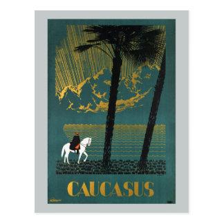 Vintage Caucasus Mountains Postcard