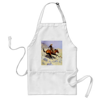 Vintage Cavalry Military, The Cowboy by Remington Standard Apron