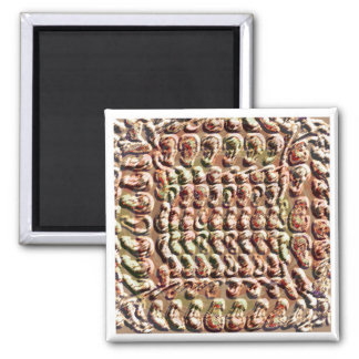 Vintage: CaveArt Gold Coin Square Magnet