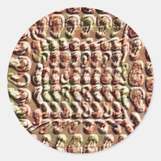 Vintage: CaveArt Gold Coin Round Sticker
