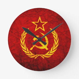 Vintage CCCP flag Round Clock