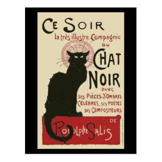 Vintage Ce Soir Le Chat Noir Poster Postcard