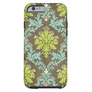 Vintage Celadon and Aqua Damask Tough iPhone 6 Case