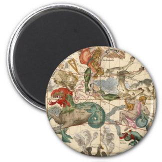 Vintage Celestial Map Cetus Aquarius Andromeda Magnet