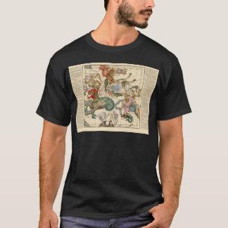 Vintage Celestial Map Cetus Aquarius Andromeda T-Shirt