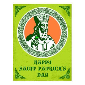 Vintage celtic style St. Patricks greeting Postcard
