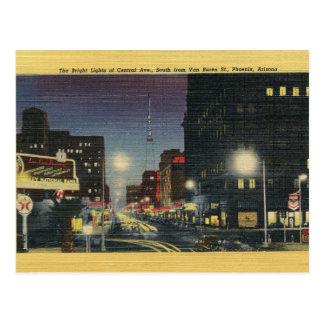 Vintage Central Avenue Phoenix Arizona Postcard