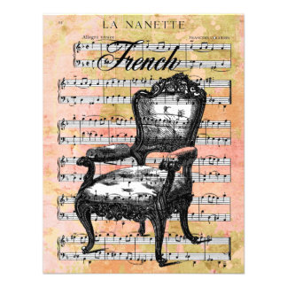 Vintage Chair Music Invites