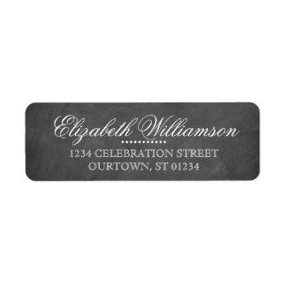 Vintage Chalkboard Address Label