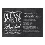 Vintage Chalkboard Bridal Shower Custom Invite