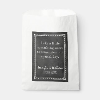 Vintage Chalkboard Custom Wedding Favor Bag