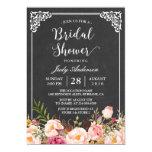 Vintage Chalkboard Frame Floral Bridal Shower 13 Cm X 18 Cm Invitation Card