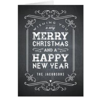 Vintage Chalkboard Holiday Greeting Card