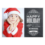 VINTAGE CHALKBOARD | HOLIDAY PHOTOCARD PERSONALIZED ANNOUNCEMENT