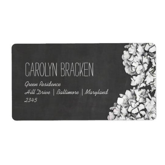 Vintage Chalkboard Hydrangeas Floral Wedding