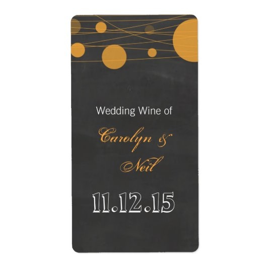 Vintage Chalkboard Lantern Wedding Wine