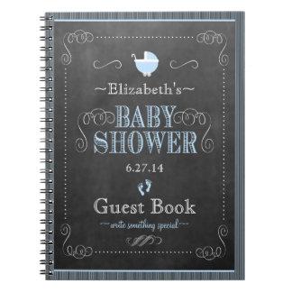 Vintage Chalkboard Look- Baby Shower Guest Book- Notebook