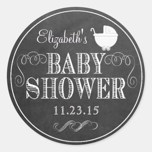 Vintage Chalkboard Look - Baby Shower Sticker