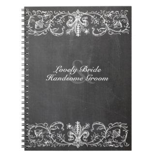 Vintage Chalkboard Personalized Spiral Notebook