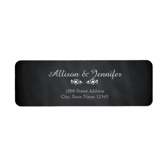 Vintage Chalkboard Return Address Return Address Label